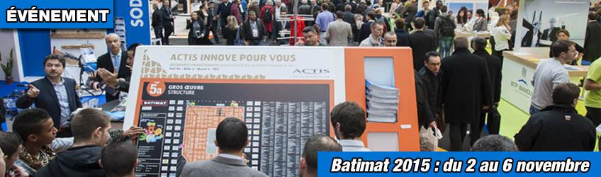 Batimat du 2 au 6 novembre paris distriartisan - Salon villepinte 2015 ...