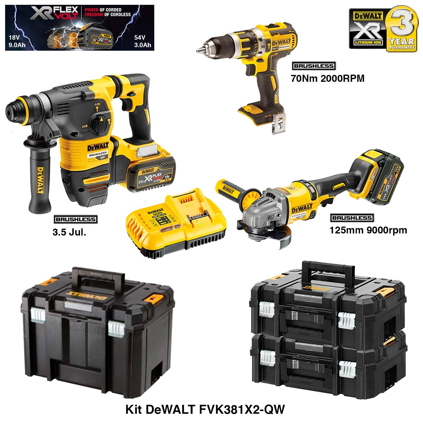 dewalt kit perforateur burineur perceuse visseuse. Black Bedroom Furniture Sets. Home Design Ideas