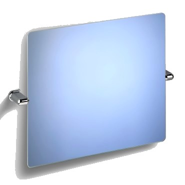 miroir mural rectangulaire inclinable fixations abs