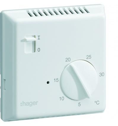 thermostat ambiance lectronique en saillie pour chauffage lectrique avec entr e fil pilote. Black Bedroom Furniture Sets. Home Design Ideas