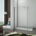 AICA paroi de douche 30x200cm paroi lat/érale /à litalienne en 8mm verre anticalcaire avec barre de fixation 450mm