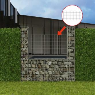 vidaXL Mur de Gabion Acier Galvanisé Clôture Bordure de Jardin Multi-taille