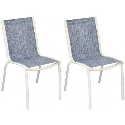 Chaise Aluminium Textilène Linea Lot De 2 Couleur Au Choix