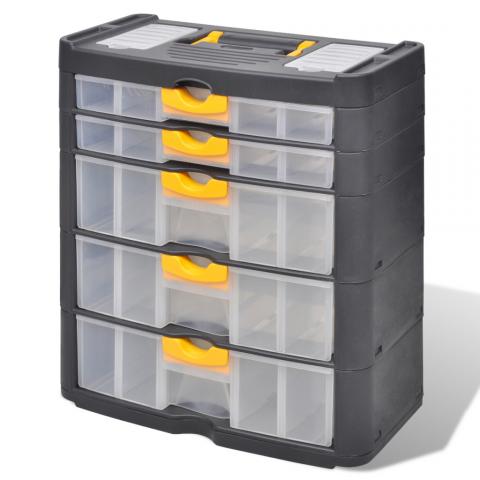 Vidaxl Vidaxl Boite Casier Commode De Rangement Plastique 5 Tiroirs Distriartisan