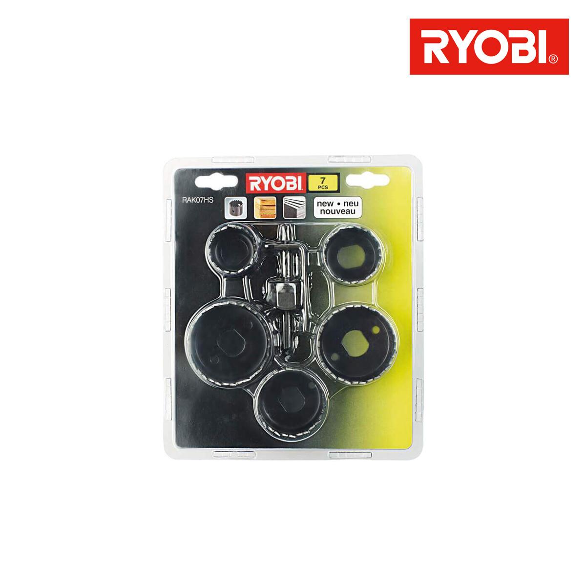 Diametre Scie Cloche Prise De Courant jeu de 7 pièces scie cloche pour le bois ryobi rak07hs