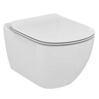 Ensemble cuvette WC suspendue Tési technologie AquaBlade® + abattant frein de chute Ideal Standard