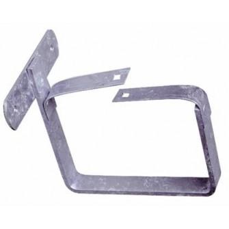 Crochets de gouttière carrés Mus 2 acier galvanisé dev 33 cm pose bandeau (boîte de 50)
