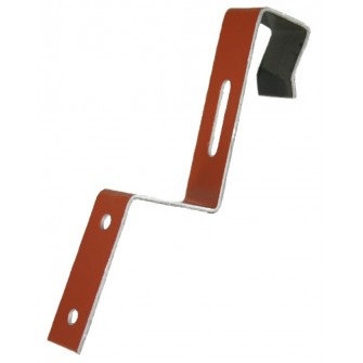 Clip de faîtage aluminium laqué 470/113 rouge brique BWK (à l'unité)