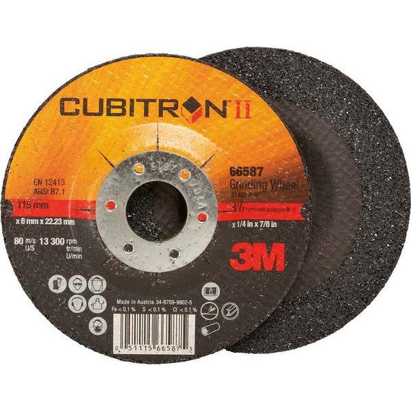 3m disque barber cubitron tm ii pour l 39 usinage de l 39 acier inoxydable x pais 125 x. Black Bedroom Furniture Sets. Home Design Ideas