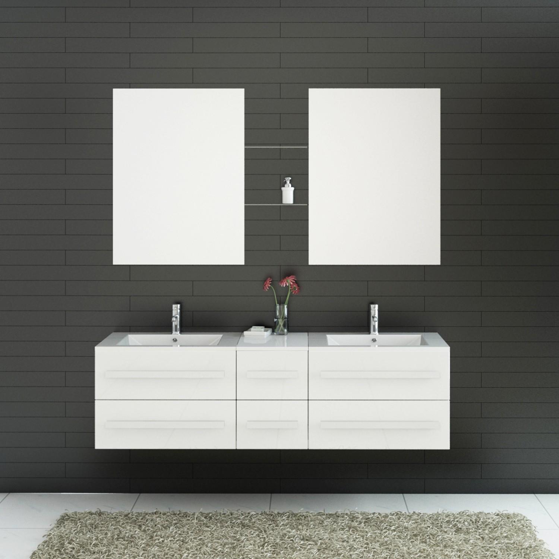 Meuble Salle De Bain Riho New Ice ~ beautiful meuble de salle de bain 2 vasques 2 miroirs gallery