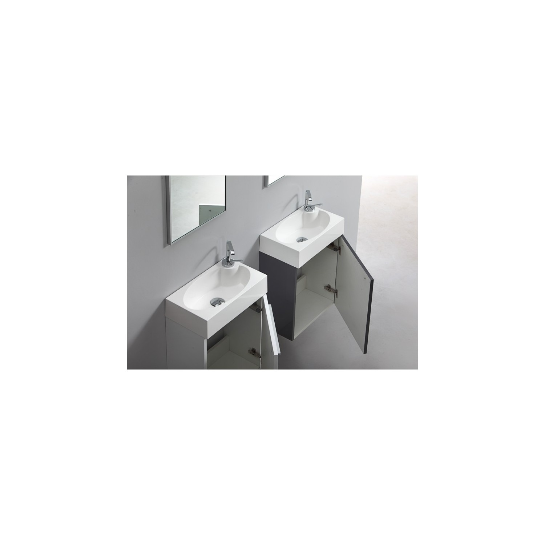 Import diffusion ensemble meuble salle de bains lave for Meuble salle de bain gris laque