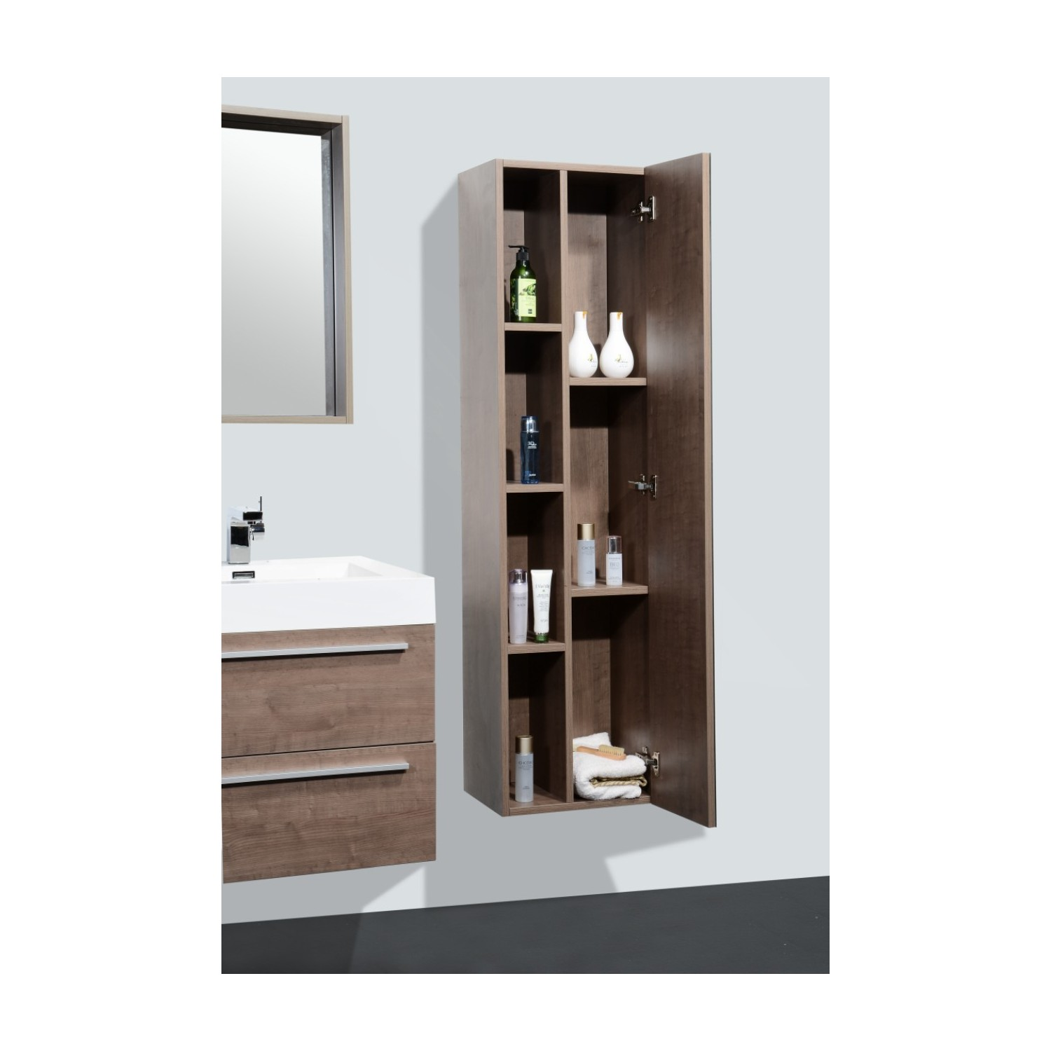 import diffusion ensemble meuble salle de bains vasque simple colonne miroir malaga. Black Bedroom Furniture Sets. Home Design Ideas