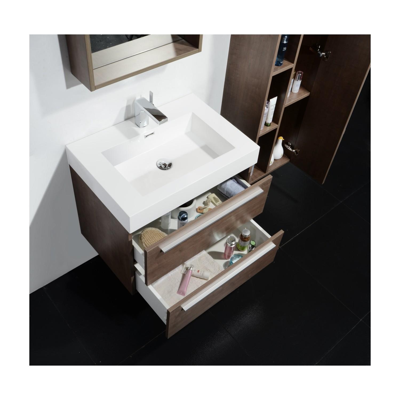 Ensemble meuble salle de bains vasque simple colonne for Ensemble meuble vasque miroir salle de bain