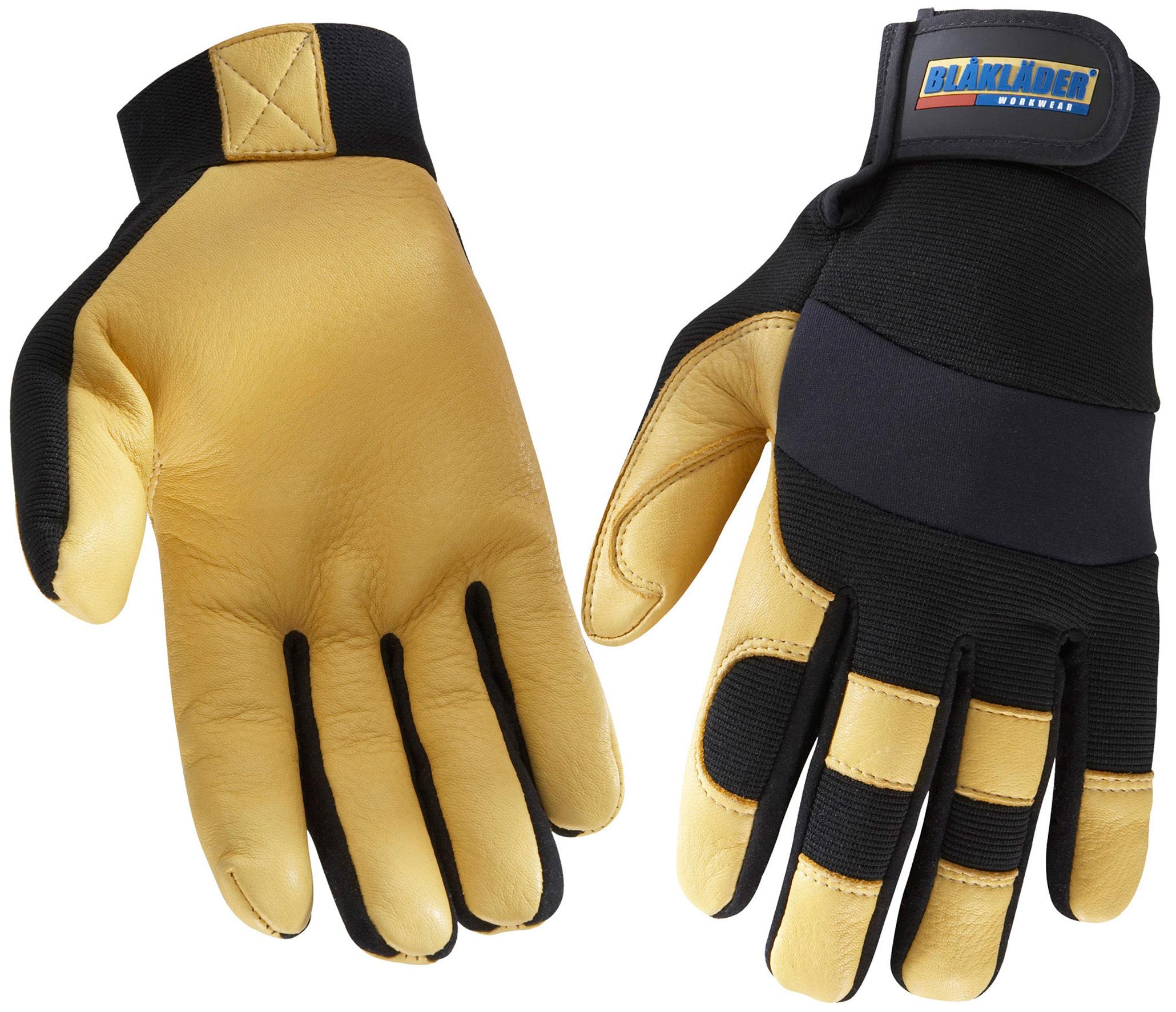 gants de travail hiver noir jaune cuir synth tique. Black Bedroom Furniture Sets. Home Design Ideas
