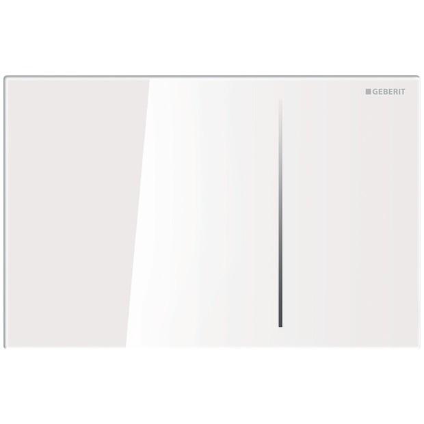 geberit plaque de commande sigma 70 en verre blanc. Black Bedroom Furniture Sets. Home Design Ideas