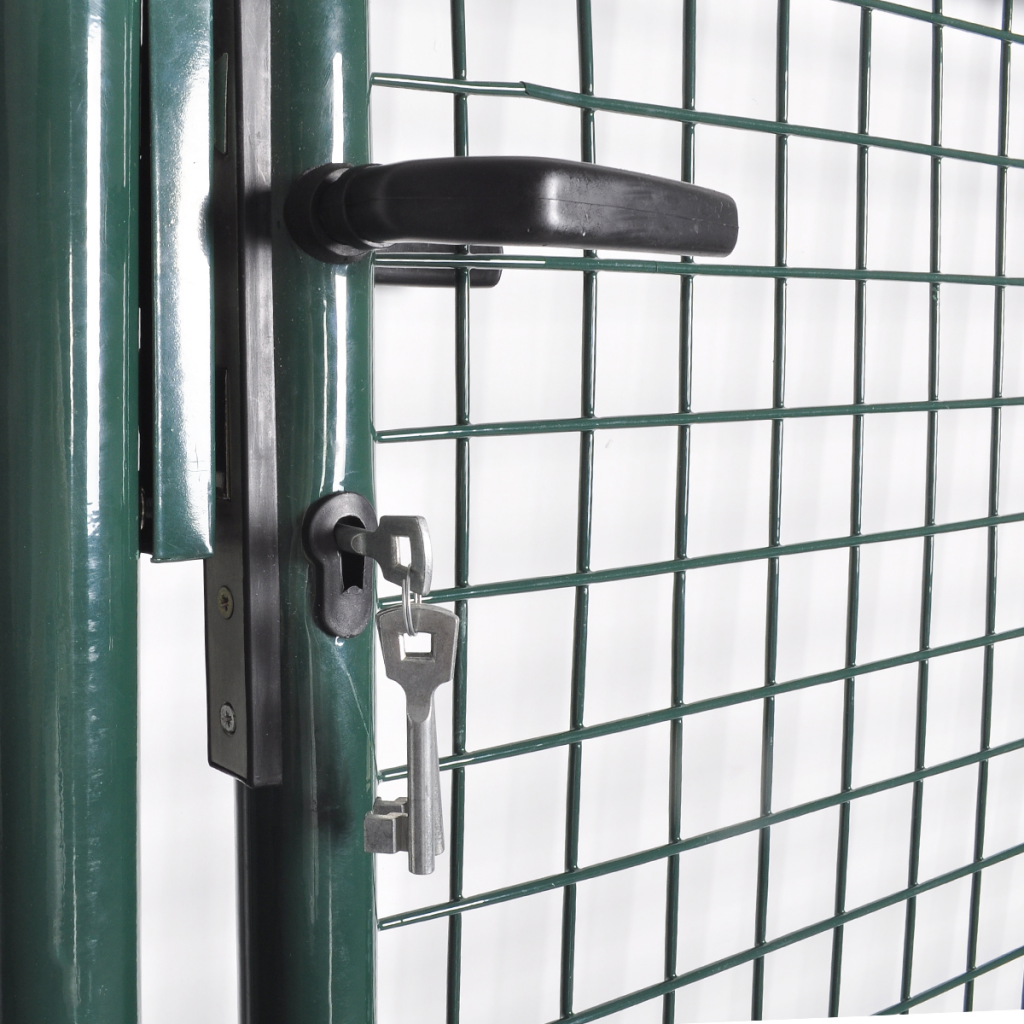 vidaXL - vidaXL Portail pour clôture en acier laqué - Distriartisan