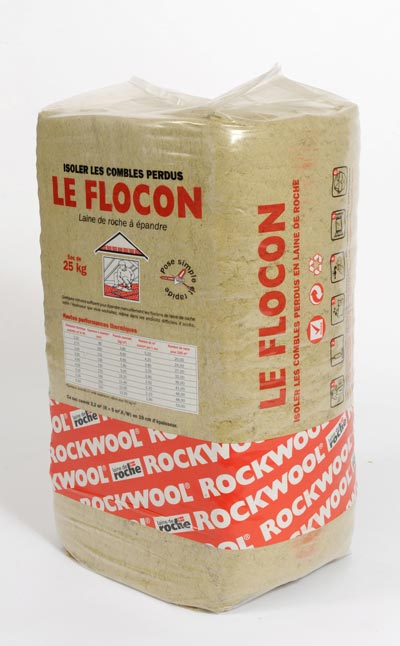 rockwool laine de roche en flocon le flocon 2 pour l 39 isolation des combles perdus de palette. Black Bedroom Furniture Sets. Home Design Ideas