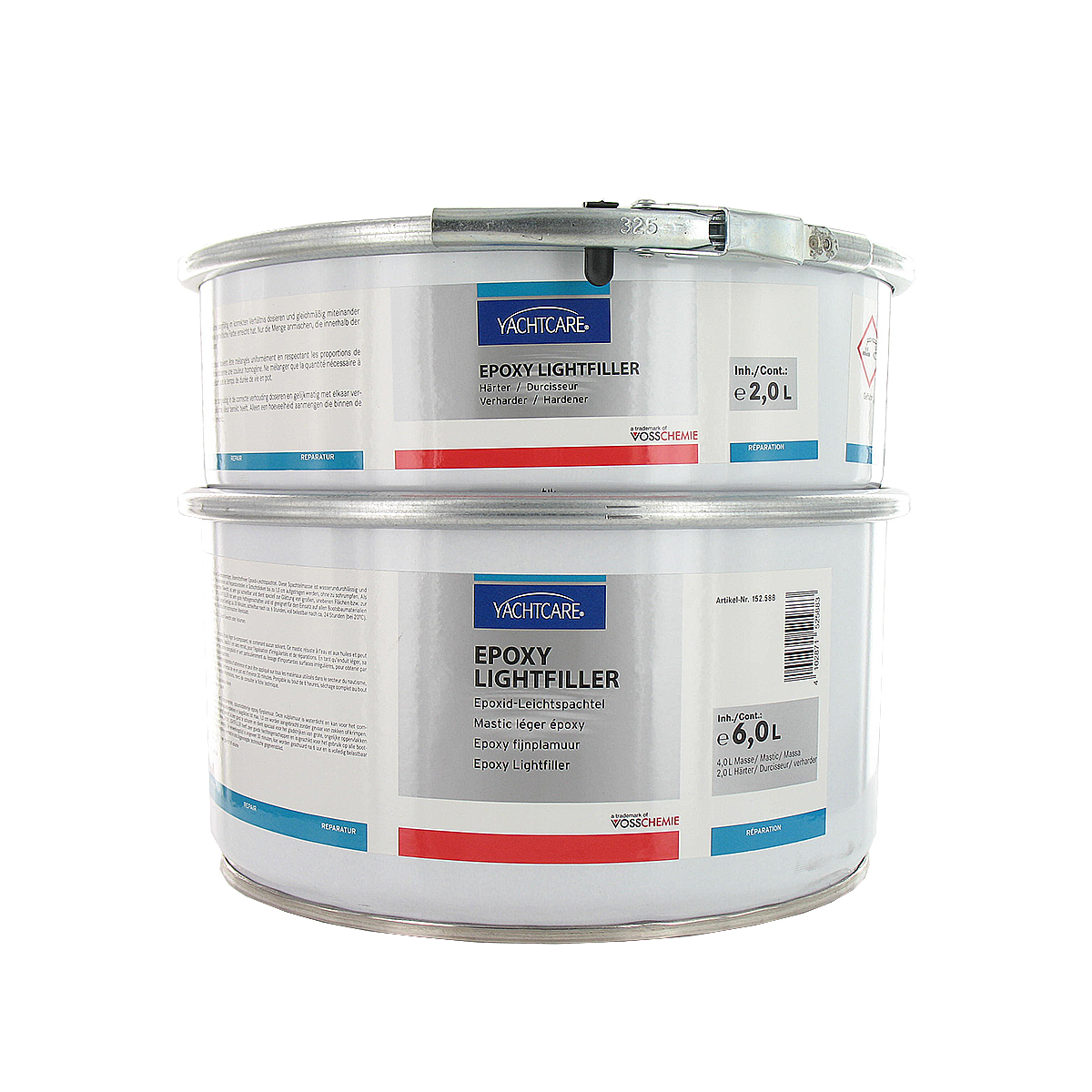 yachtcare mastic l ger epoxy lightfiller avec durcisseur 6 kg distriartisan. Black Bedroom Furniture Sets. Home Design Ideas