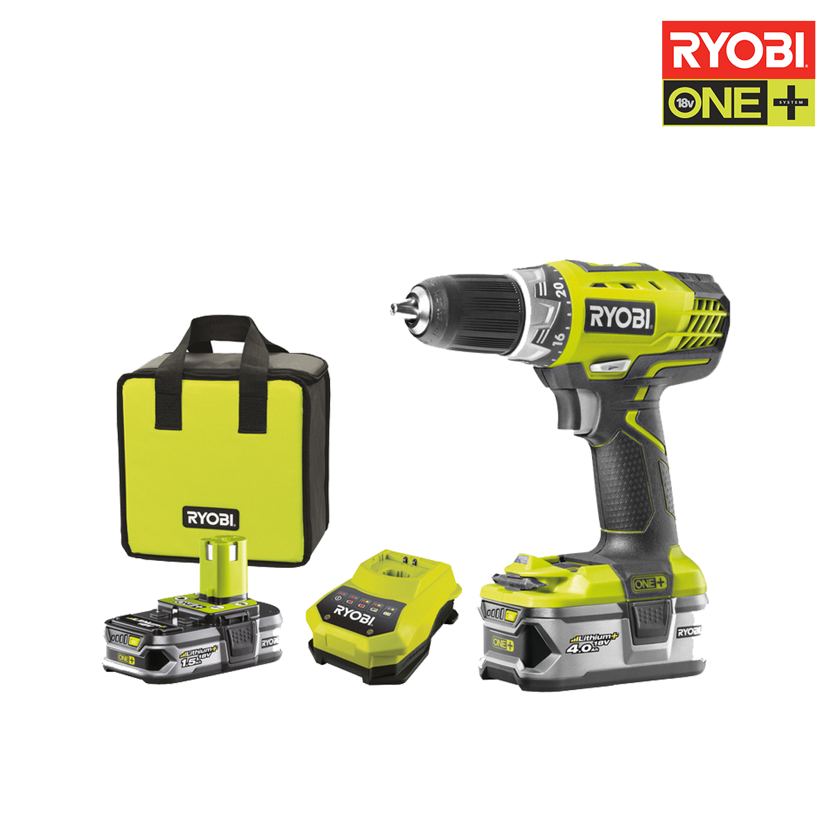 ryobi perceuse visseuse 18v oneplus 2 batteries. Black Bedroom Furniture Sets. Home Design Ideas