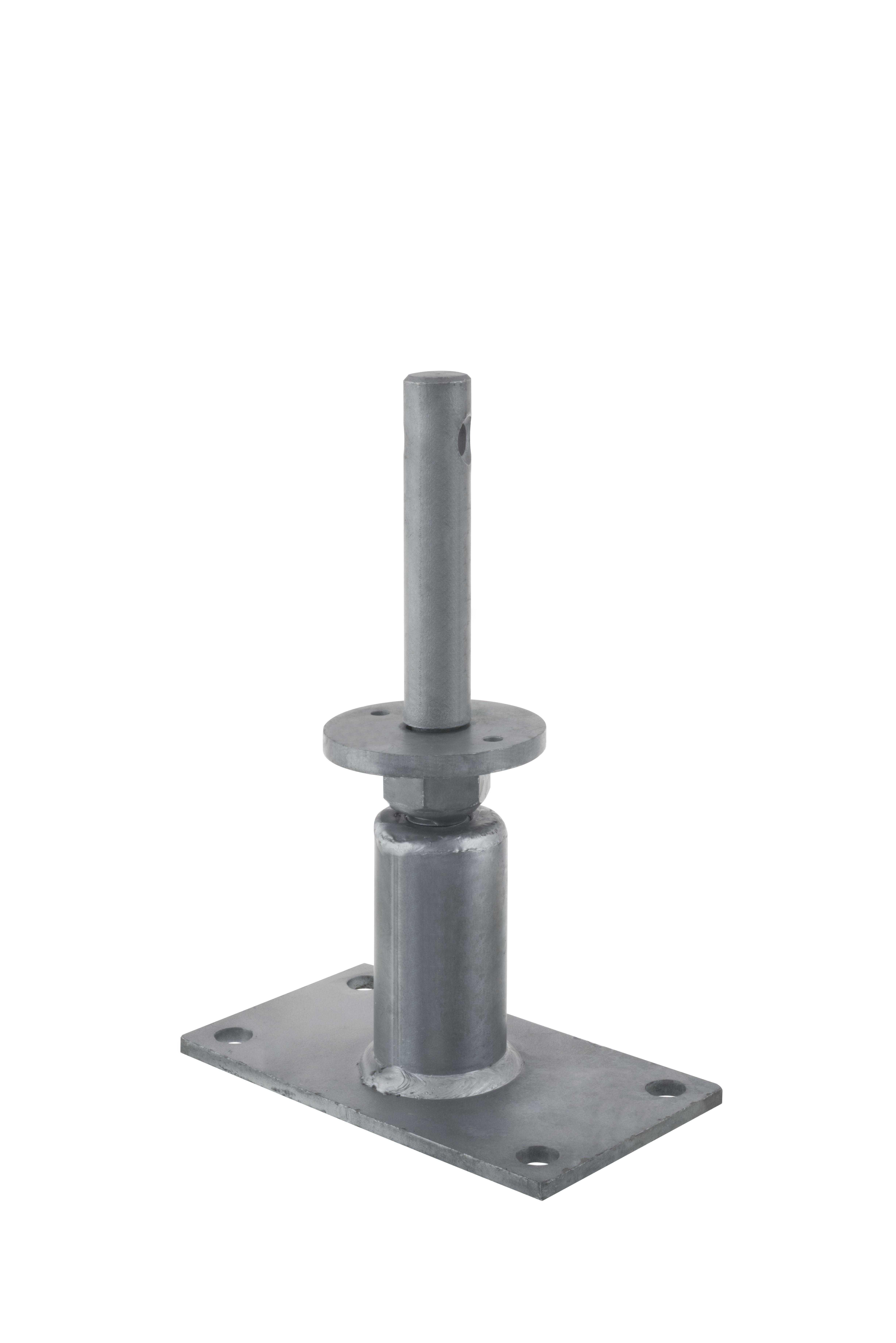 Simpson Pied De Poteau Tubulaire Réglable Forte Charge à Lunité - Portant vetement professionnel charge lourde