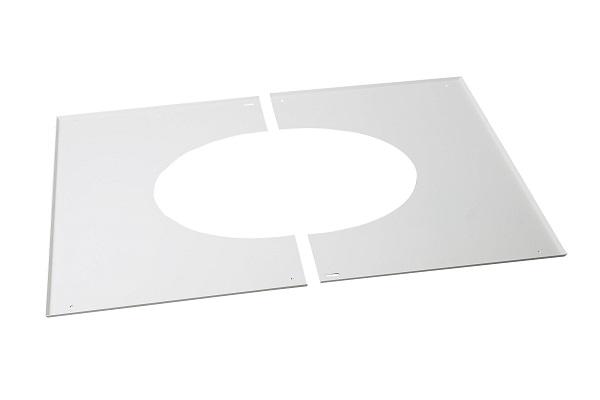 Poujoulat Plaque De Propreté Blanc Pour Plaque PDSE Rampant Ø - Plaque de propreté porte