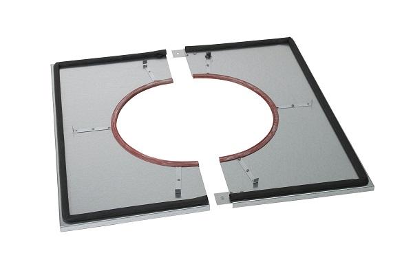 Poujoulat plaque distance de s curit tanche plafond pour conduit inox galva 180 230 - Plafond pour percevoir l apl ...