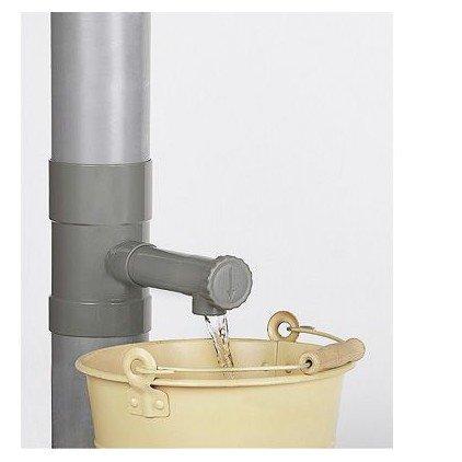 Ose r cup rateur eau de pluie 100 mm gris distriartisan - Raccord gouttiere pour recuperateur d eau ...