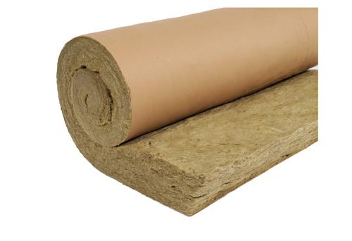 rockwool rouleau isolant en laine de roche roulrock kraft pour l 39 isolation des combles perdus. Black Bedroom Furniture Sets. Home Design Ideas