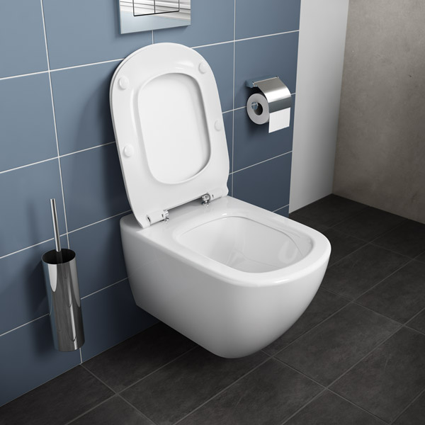 Ideal standard ensemble cuvette wc suspendue t si for Abattant wc ideal standard