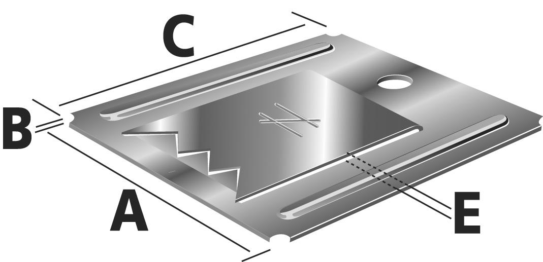 simpson clips inox pour lambris pvc distriartisan. Black Bedroom Furniture Sets. Home Design Ideas