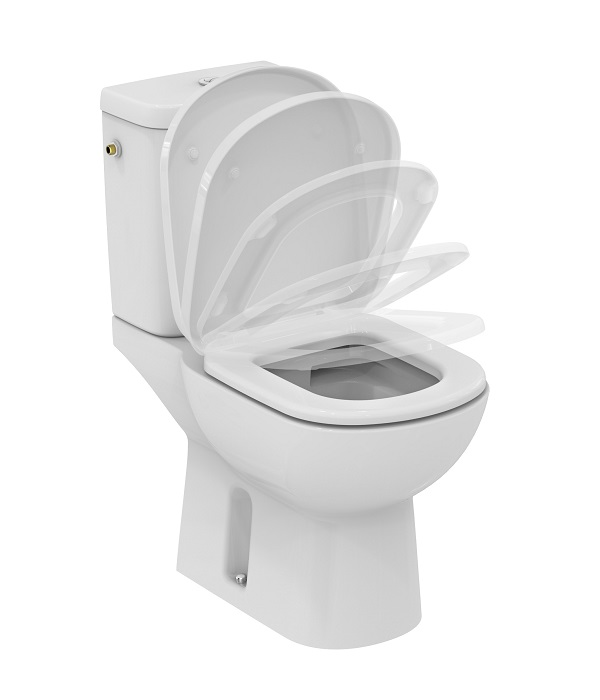 Ideal standard pack wc au sol kheops sans bride avec for Abattant wc ideal standard